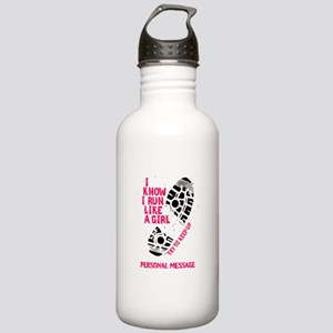 Personalized Runner Girl Stainless Water Bottle 1.